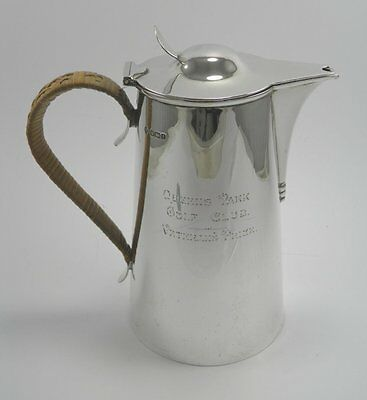 Arts & Crafts 925 sterling silver hot water pot Martin, Hall & Co Sheffield 1911
