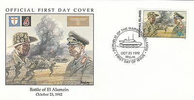 (00580) Marshall Is FDC WWII Battle of El Alamein 1992