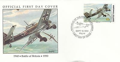 (00582) Marshall Is FDC WWII Battle of Britain 1990