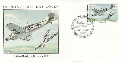 (00587) Marshall Is FDC WWII Battle of Britain 1990