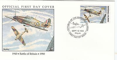 (00592) Marshall Is FDC WWII Battle of Britain 1990