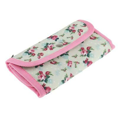 Pouch Knit Crocheting Needle Case Floral Print Crochet Hook Holder Organizer