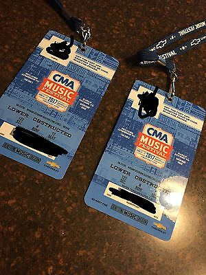 CMA Music Festival 2017  - 2 four day passes June 8-11   LOWER SECTION SEATS