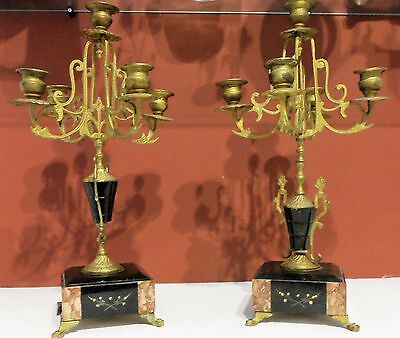 Set of French candlesticks 1900s