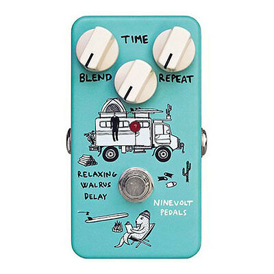 Nine Volt Pedals Relaxing Walrus Delay Effects Pedal, 1ms to 1250ms Time Range