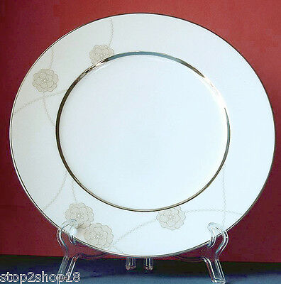 Royal Doulton Enchantment Dinner Plate Taupe Floral Motif New