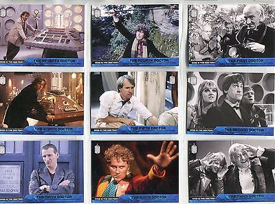 Doctor Who 2015 Complete Who Is The Doctor? Chase Card Set D1-12