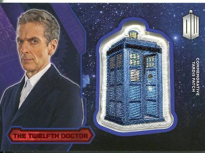 Doctor Who 2015 [Red][##/25] Tardis Patch Card P-12 The Twelfth Doctor
