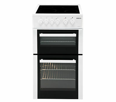 BEKO BDVC563AW Freest&ing Electric Ceramic Double Cooker with Grill White