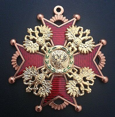 Museum Quality Reproduction Medal Polish Order Of Saint Stanislaus 1765