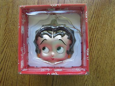 """Betty Boop Vintage Head Christmas Ornament-5"""" High-1998-New In Box!"""