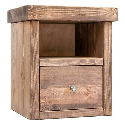 Solid Wood Bedside Tables | Rustic Timber | Funky Chunky Furniture | 1 Drawer