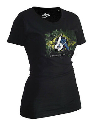 Ju-Sports BJJ-Shirt Ground Warrior schwarz Lady