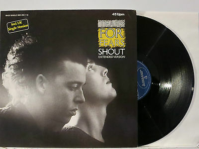 """Tears for Fears - Shout-Extended -7.40 + 2 Songs 12"""" 1984 Mercury Germany NMint"""