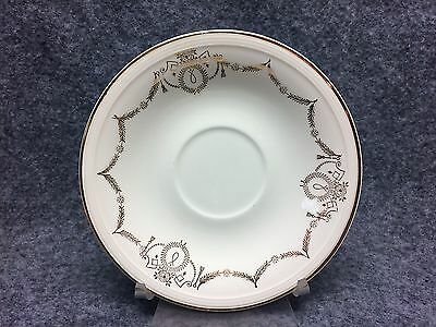 """(1) Edwin M Knowles Adams Pattern Gold Swag 6"""" Saucer"""
