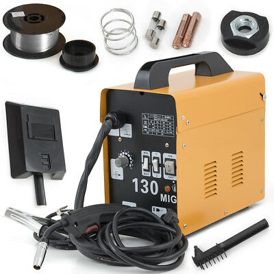 MIG-130 Flux Core Wire Welder Welding Machine w/ Cooling Fan Face Mask 115V Set