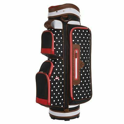 Sale!! Callaway Uptown Cart Trolley Golf Bag 6-Way Divider Polka Dot/black/white