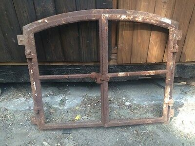 Gorgeous Vintage Rusty Cast Iron Industrial Metal Window Frame
