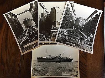 Vintage 1940'S WWII Naval Ship Photos 8X10 B&W - Lot of 4