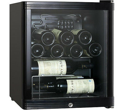 ESSENTIALS CWC15B14 Wine Cooler 15 x 750cl Bottle Capacity 5-20°C Black