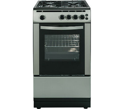 ESSENTIALS CFSGSV16 50 cm 4-burner Gas Cooker Silver