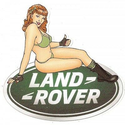 LAND ROVER right Pin Up Sticker droite °