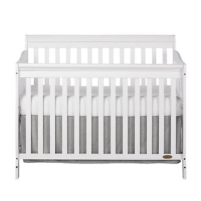 Dream On Me Ashton 5 in 1 Convertible Crib, White