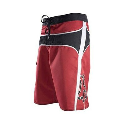Fox Men's Strong Point Boardshorts Board, Surf Shorts Red W28inch