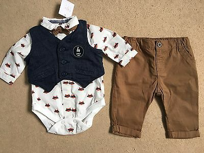 Next 4 piece baby boy set upto 3 months