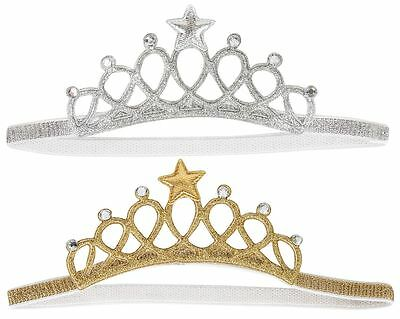 Baby Tiara Crown Elastic Headband Birthday Wedding Fancy Dress Gold / Silver