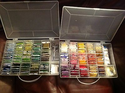 DMC Embroidery Floss Thread Carded & Numbered Bobbins Cross Stitch Storage Cases