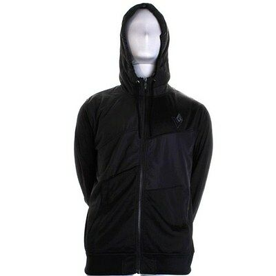 Volcom Men's Bishop Black Track Jacket Black Large
