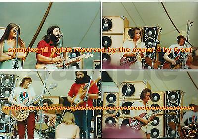 Grateful Dead Photo Set Of 4 -  4 By 6 1973 Rfk Stadium + Show Ad / Pro Lab Sale