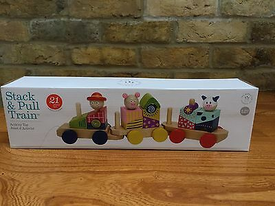 Manhattan Toy Company Stack & Pull Train. Brand New And In The Box.