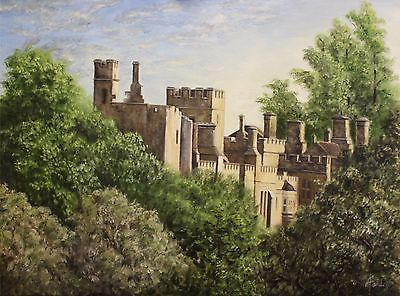 Affordable Art Painting, Framed Limited Edition Print, Medieval Castle, Sudeley