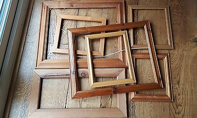 Joblot Of Vintage Wooden/pine Picture Frames Gallery Collection Shabby Chic