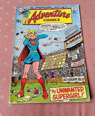 DC Adventure Comics #393 The Unwanted Supergirl! Rare Comic