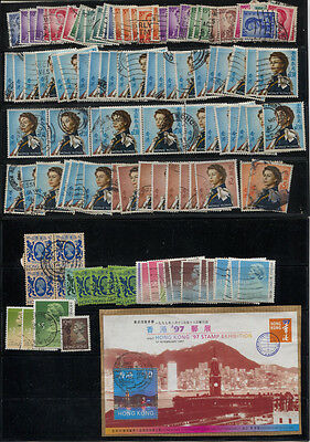 Hong Kong Used Definitive Accumulation - Watermarks Unchecked.