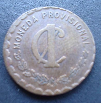 1915 RARE 1 cent copper Rebolutionary coin Oaxaca