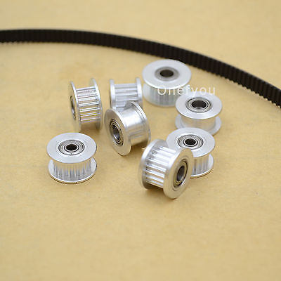 5pcs Timing Pulley GT2 Idler 16/20T gear Bearing Reprap 6mm Belt 3/5mm Bore 3D