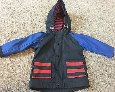 Baby boys Next blue summer hooded jacket coat Age 9-12-18 months