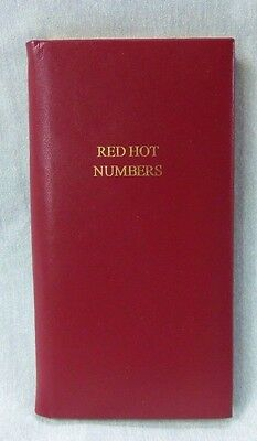 Baekgaard Red Hot Numbers Address Book Unused