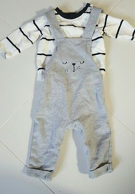 My K boy's dungarees and top 3-6 months