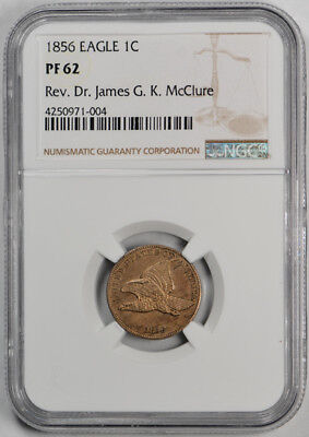 1856 Flying Eagle Cent NGC PR 62 Uncirculated Proof Exceptional Coin