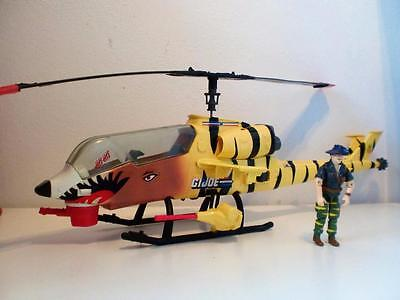 Vintage GI Joe Tiger Force Fly Helicoptor & Recondo Toy Action Figure 1988 1980s