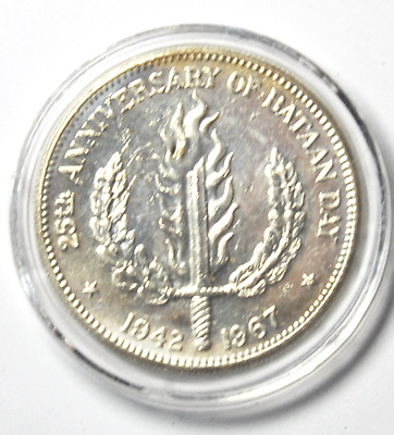 1967 Philippines One Peso Beautiful Proof Like Silver Coin Rare Low Mintage