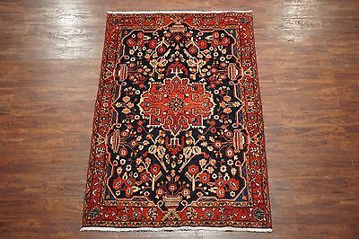 5X7 Antique Nahavand Persian Area Rug Hand-Knotted Oriental Wool (4.6 x 7.3)