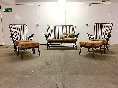 Vintage Mid Century Ercol Windsor Evergreen 5-Piece Suite - Impeccable Condition