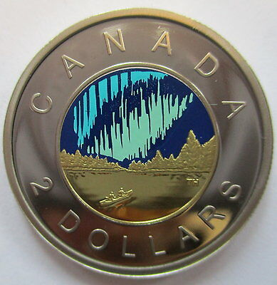 2017 Canada $2 Glow In The Dark 1867-2017 150Th Anniversary Of Canada Proof