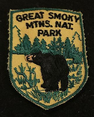 GREAT SMOKY MTNS NATIONAL PARK Vtg Patch TENNESSEE State Souvenir Travel VOYAGER
